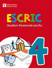 Escric. quadern d'expressio escrita 4