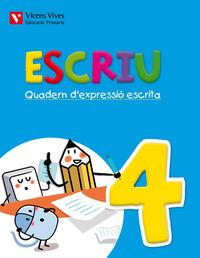 Escriu. quadern d'expressio escrita 4 valencia