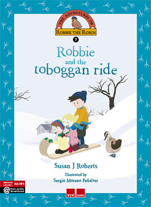 Robbie and the toboggan ride