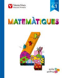 Matematiques 4 (4.1-4.2-4.3) balears aula activa