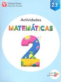 Cuaderno matematicas 2ºep trimest.15 aula activa