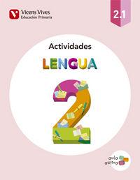 Cuaderno lengua 2ºep trimestres 15 aula activa