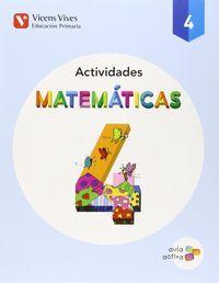 Cuaderno matematicas 4ºep trimest.15 aula activa
