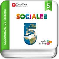Cuaderno sociales 5ºep madrid 15 aula activa