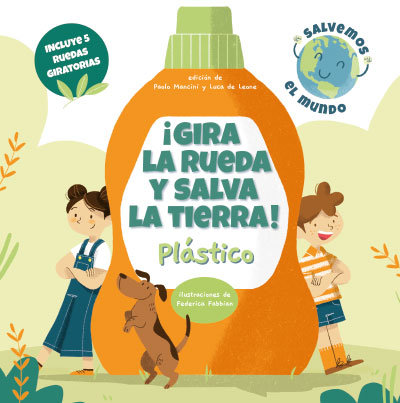 Gira la rueda y salva la tierra plastico