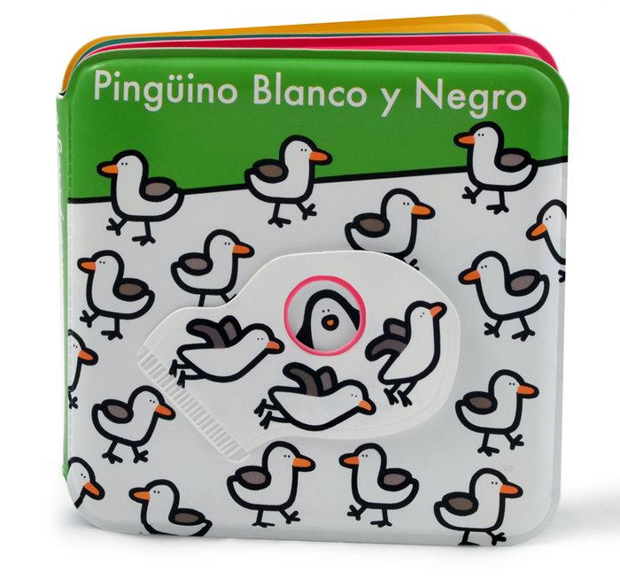 Pinguino blanco y negro libro baño