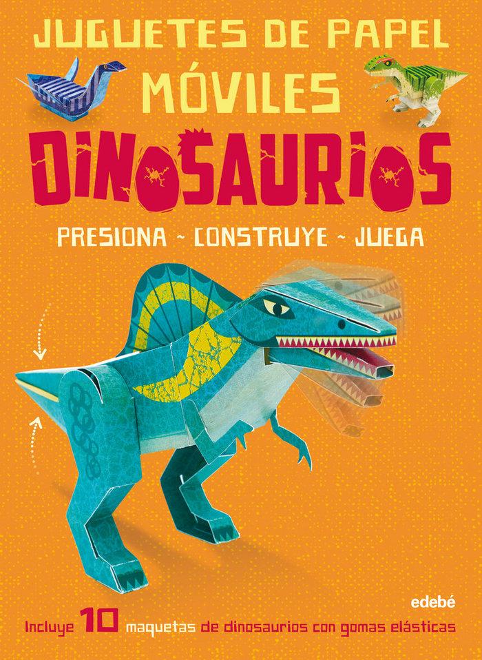 Juguetes de papel moviles dinosaurios