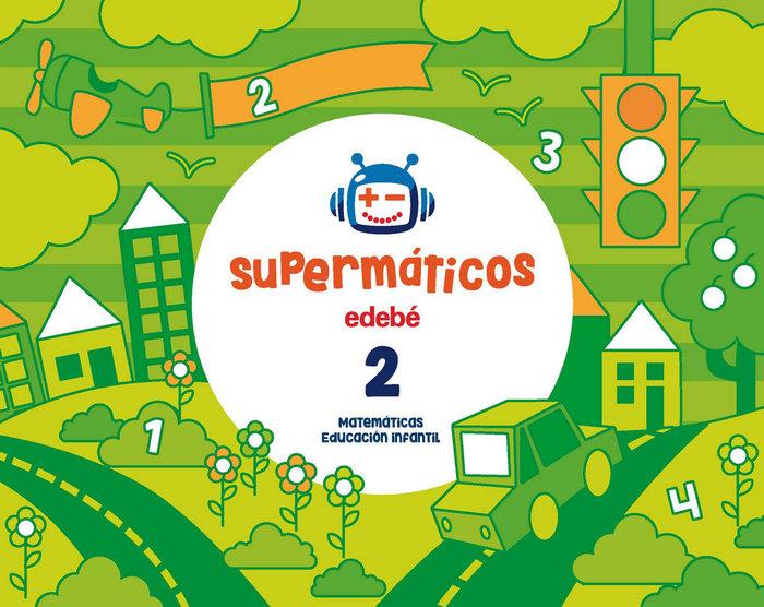 Cuad.matematicas 2 3años 2ºtrim. 17 supermaticos
