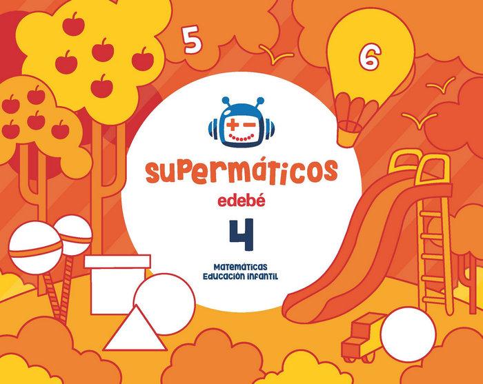 Cuad.matematicas 4 4años 1ºtrim. 17 supermaticos