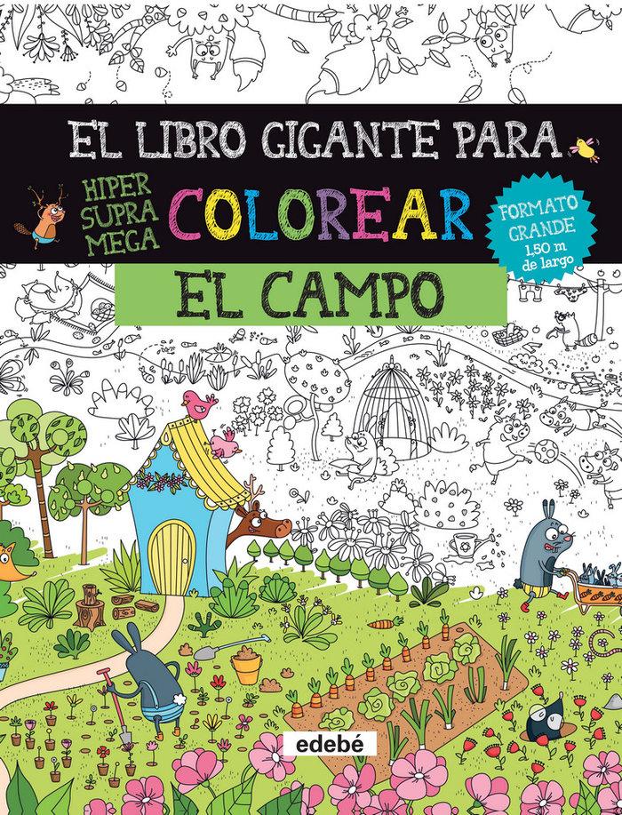 Libro gigante para colorear: el campo,el