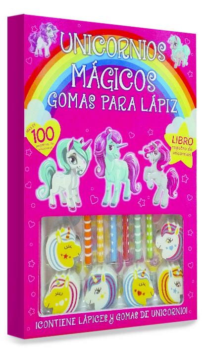 Unicornios magicos gomas para lapiz