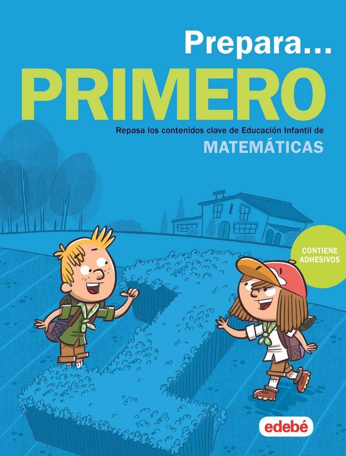 Cuaderno 5años prepara matematicas de 1ºep (adhesivos)