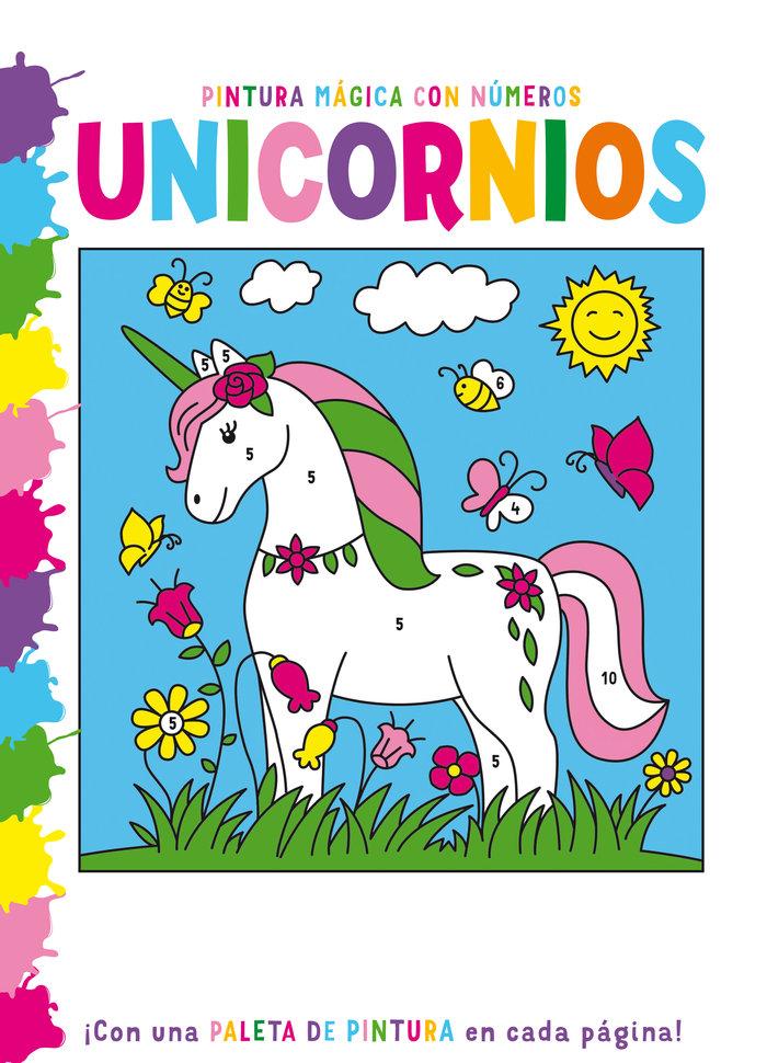 Pintura magica con numeros unicornios
