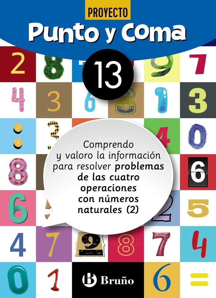 Cuaderno matemáticas 13 punto y coma 19