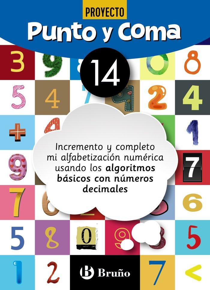 Cuaderno matemáticas 14 punto y coma 19