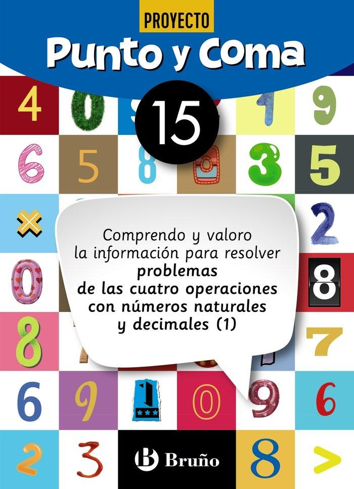 Cuaderno matemáticas 15 punto y coma 19