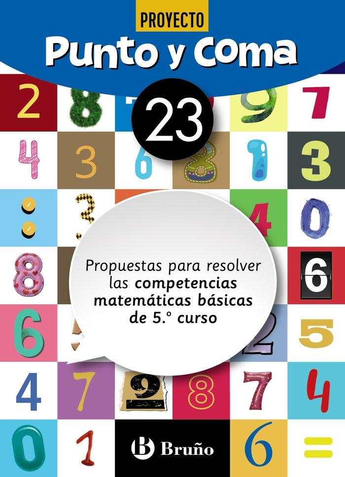 Cuaderno matemáticas 23 punto y coma 19