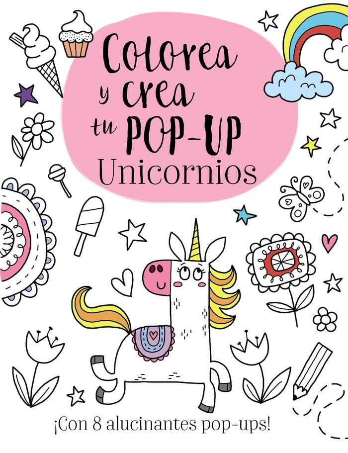 Colorea y crea tu pop-up unicornios