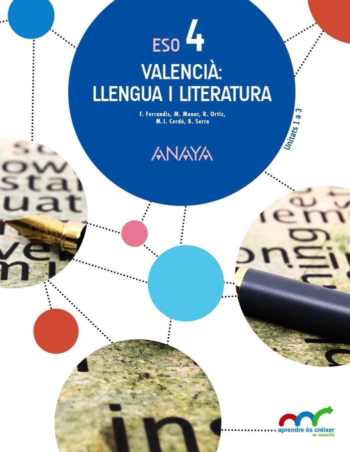Llengua literatura 4ºeso trim.valencia 16 apr.crei
