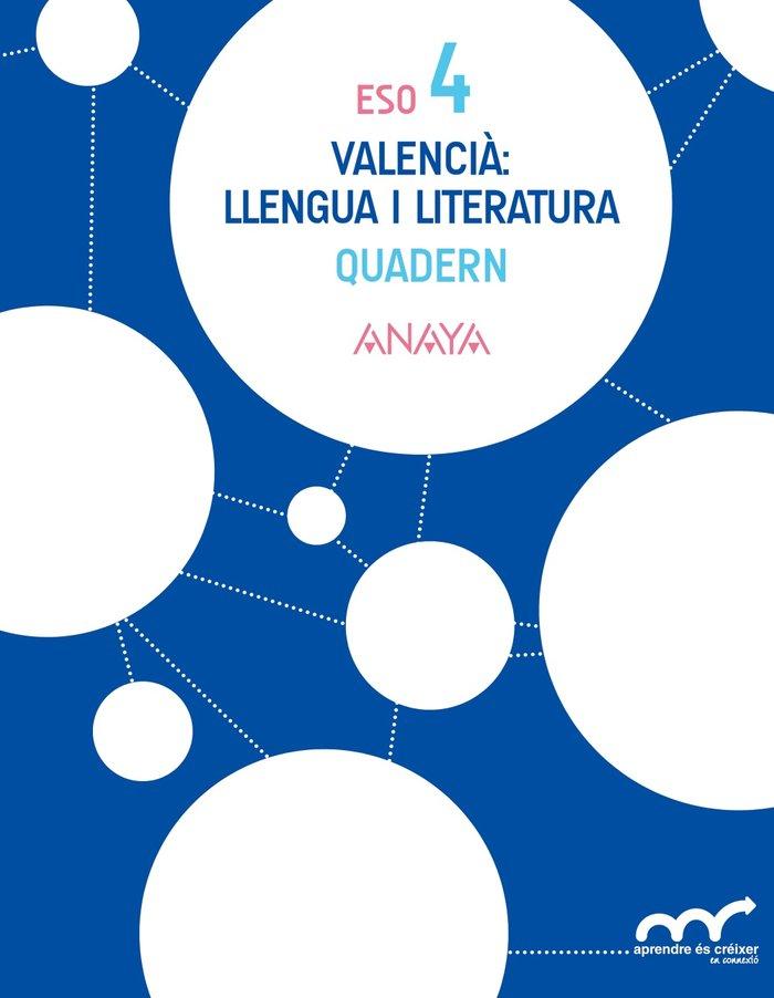 Quaderno llengua 4ºeso valencia 16 aprender creixe