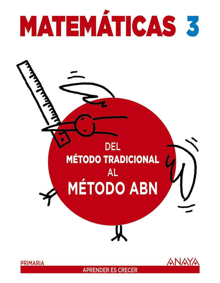 Cuaderno matematicas 3ºep 16 metodo tradic.al abn