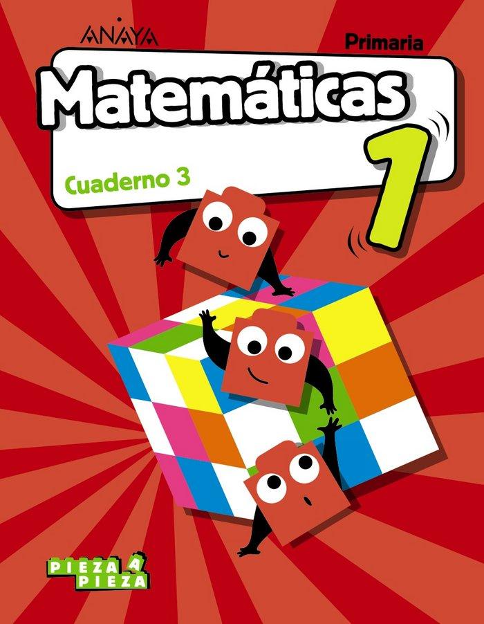 Cuaderno matematicas 3 1ºep madrid 18 pieza a piez