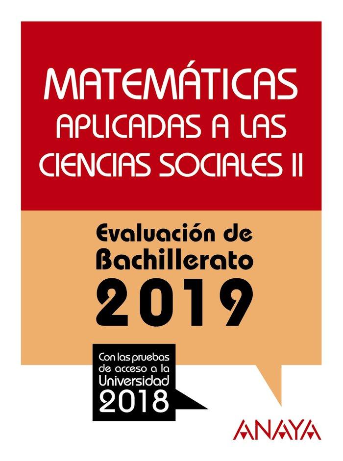 Matematicas ii cc.ss evaluacion de bachillerato 2019