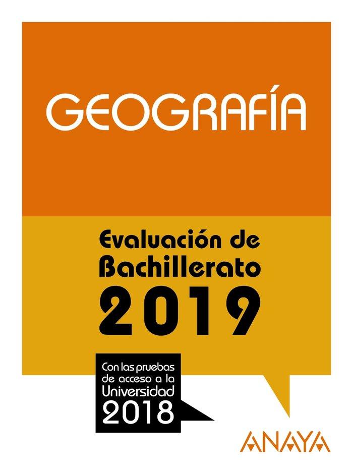 Geografia evaluacion bachillerato 2019