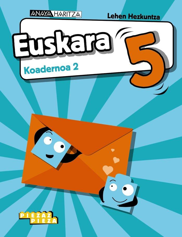 Euskara 5 koadernoa 2 pais vasco 20 piezas pieza