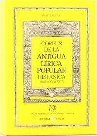 Corpus antigua lirica popular hispanica