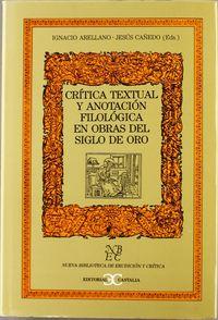 Critica textual y anotacion filologica