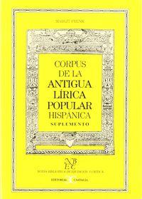 Corpus ant.lirica suplemento