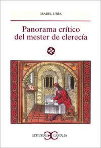 Panorama critico del mester de clerecia ls