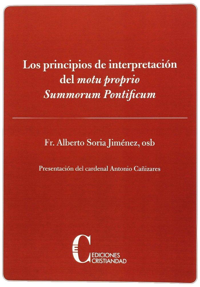 Principios de interpretacion del motu propio summorum pronti