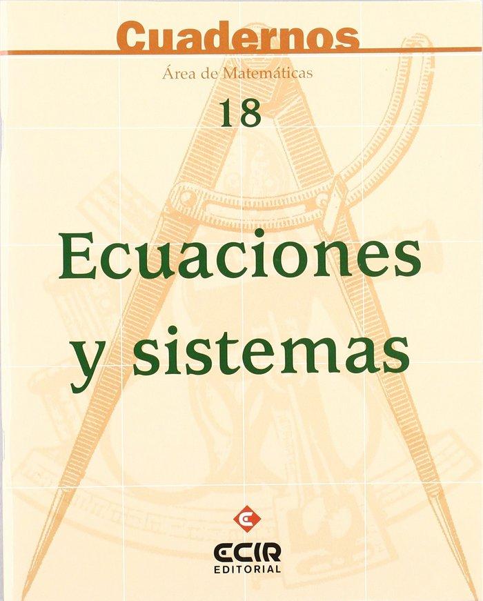 Cuaderno matematicas 18 ecuaciones sistemas eso