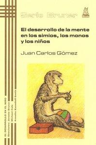 Desarrollo mente en los simios los monos y niños