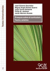 Ensayos sobre el curriculum teoria y practica
