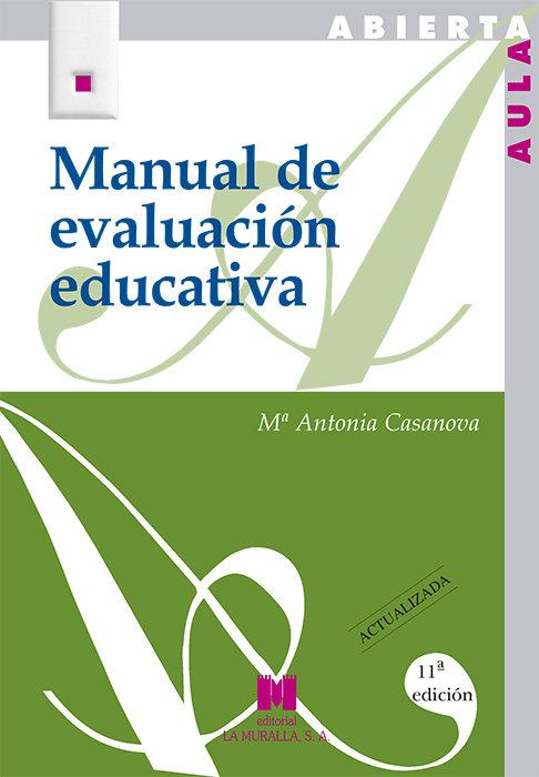 Manual de evaluacion educativa