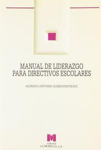 Manual de liderazgo para directivos escolares