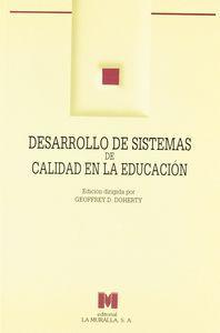 Desarrollo de sistemas de calidad en la educacion