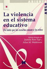 Violencia en el sistema educativo,la