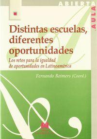 Distintas escuelas diferentes oportunidades