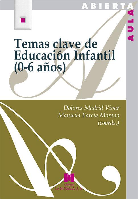 Temas clave de educacion infantil 0 6 años