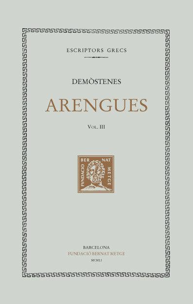 Arengues vol iii - cat