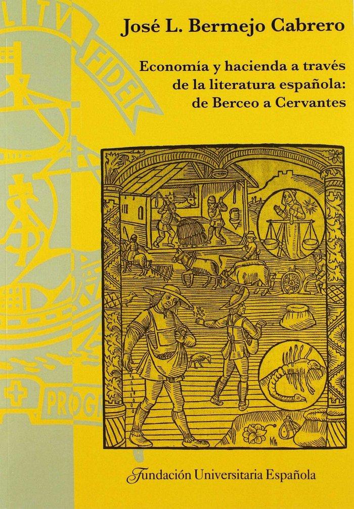 Economia hacienda a traves de literatura española berceo ce