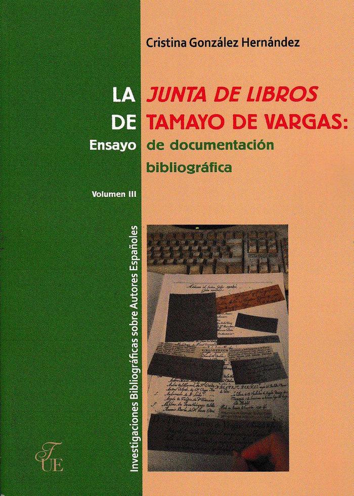 Junta de libros de tamayo de vargas. ensayo de documentacion