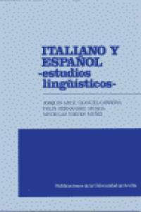Italiano y español. estudios lingui