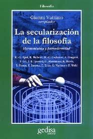 Secularizacion de la filosofia