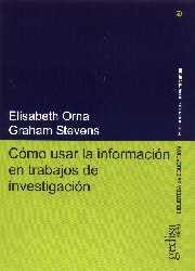 Como usar informacion trabajos investigacion