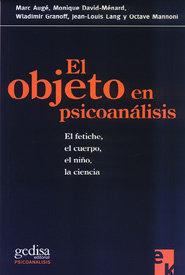 Objeto en sicoanalisis,el